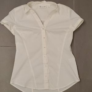 White short sleeve button up.